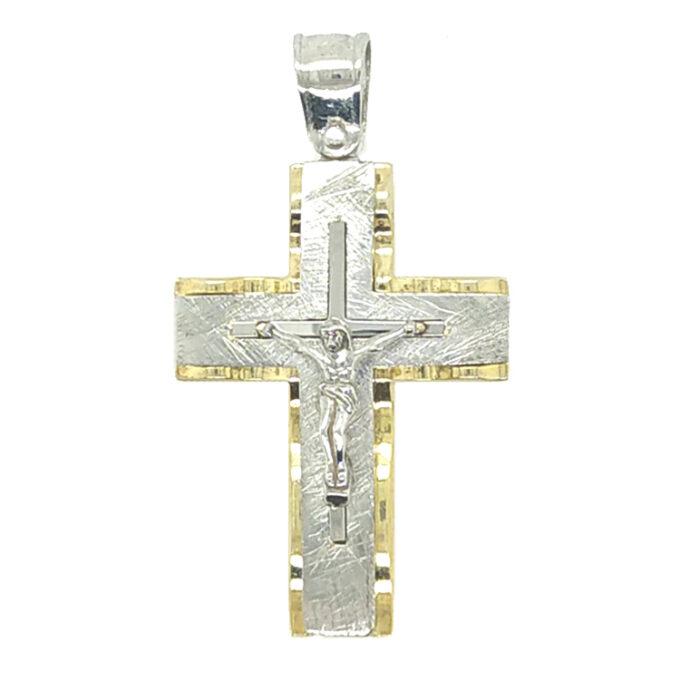Ανδρικός Σταυρός Ασημένιος Χειροποίητος.