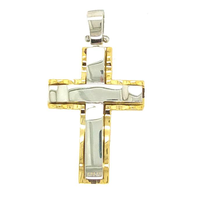 Ανδρικός Σταυρός Dio Ασημένιος Χειροποίητος.