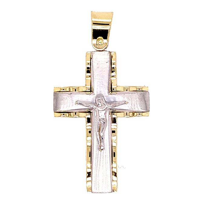 Ανδρικός Σταυρός Dio Ασημένιος (925) Χειροποίητος.