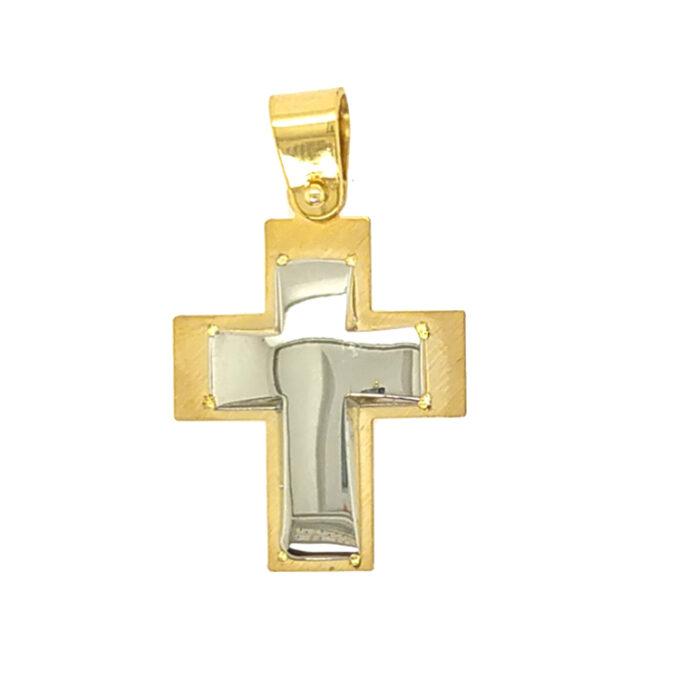Σταυρός Βάπτισης για αγόρι Dio από Ασήμι (925). Χειροποίητος