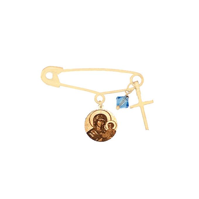 Παιδί Παραμάνα Βάπτιση Ασημένια Φυλαχτό Dio Αγόρι Κορίτσι