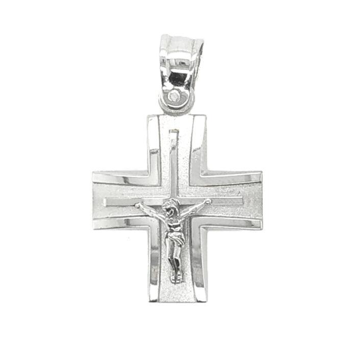 Σταυρός Βάπτισης για αγόρι Dio από Ασήμι (925). Χειροποίητος.