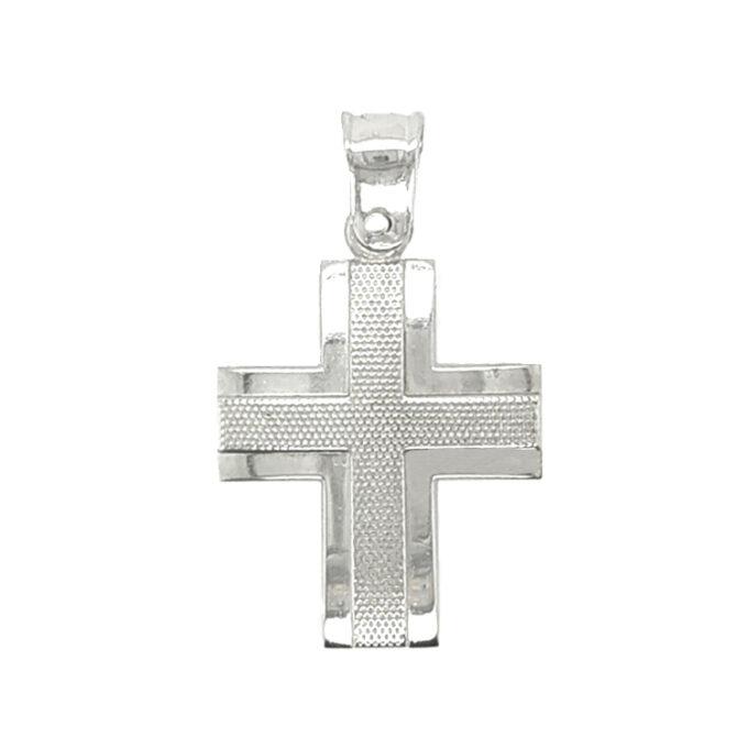 Σταυρός Βάπτισης Dio από Ασήμι (925). Χειροποίητος.