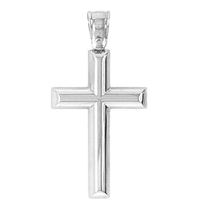 Βαπτιστικός Σταυρός Dio Ασημένιος. Χειροποίητος.