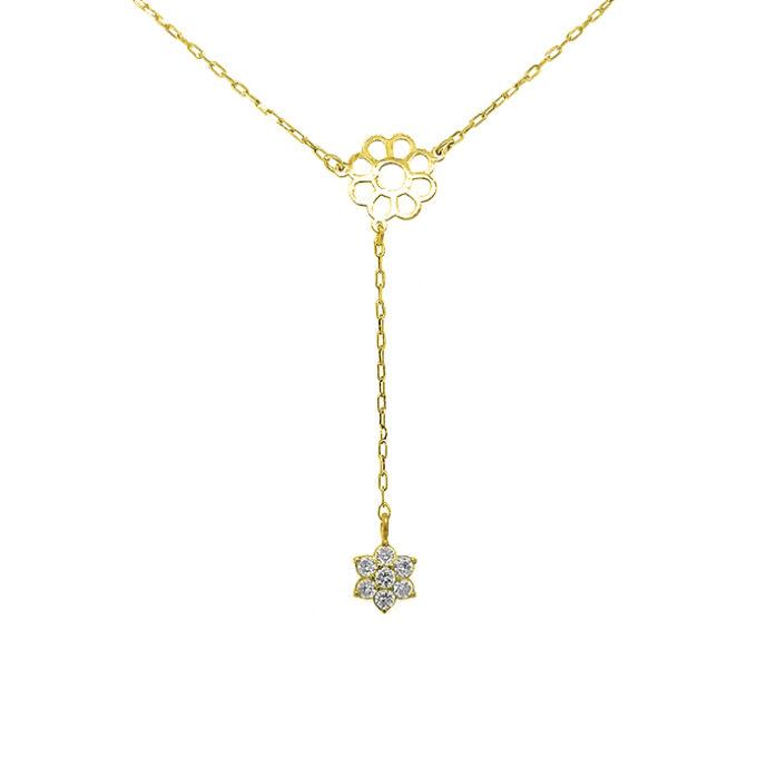 Γυναικείο Ασημένιο Κολιέ Dio Γυναίκα Όνομα Μαργαριτάρι Ζώδιο Μονόγραμμα Γεωμετρικό Σχέδιο Πολύγχρωμες πέτρες